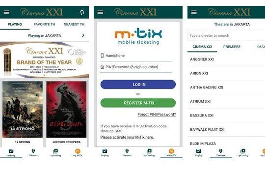Aplikasi Pesan Tiket Bioskop Online Terbaik